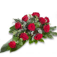 gerbe pique de rose rouge